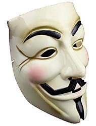v jaune populaire pour vendetta masque en plastique pour halloween