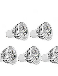 5W GU10 Spot LED MR16 1 350-400 lm Blanc Chaud Gradable AC 100-240 V 5 pièces