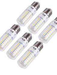 15W E14 / E26/E27 Ampoules Maïs LED T 56 SMD 5730 1350 lm Blanc Chaud / Blanc Froid Décorative AC 100-240 / AC 110-130 V 6 pièces