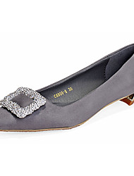 Women's Shoes Fleece Low Heel Square Toe Loafers Casual Black / Gray / Multi-color