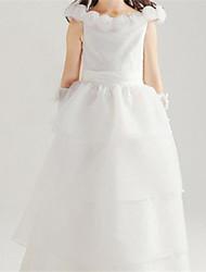 Menina de Vestido Verão Algodão Branco