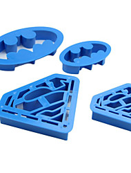 Batman Superman Super Hero Cookie Cutter Sugar Craft Cake Decoration Cookie Cutters Mold,Set of 4