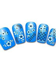 azul precioso leopardo de nieve de la joyería del clavo del cordón