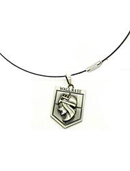 Schmuck Inspiriert von Attack on Titan Cosplay Anime Cosplay Accessoires Halsketten Silber Legierung Mann / Frau