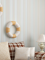 Contemporary Wallpaper Art Deco 3D Fresh Romantic Vertical Stripes Wallpaper Wall Covering Non-woven Fabric Wall Art
