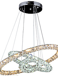 Decorative LED Crystal Pendant Lights Ceiling Chandeliers Lamps Lighting  with 3Ring 406080CM 78W CE FCC ROHS