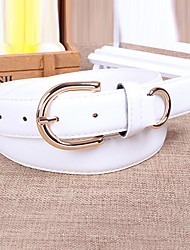 Women Leather Solid Wide Belt,Vintage / Cute / Party / Casual Alloy