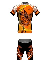 MYKING Men's Cycling Bike Short Sleeve Clothing Set Bicycle Wear Suit Jersey and Shorts Phoenix
