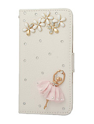For Samsung Galaxy Note Card Holder / Rhinestone / with Stand / Flip Case Full Body Case 3D Cartoon PU Leather SamsungNote 5 / Note 4 /