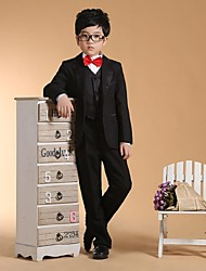 Black Cotton Ring Bearer Suit-6 Pieces