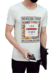 The new summer fashion personality Men T-shirt printing T-shirt slim Japanese Korean half sleeve Metrosexual