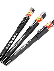 0,5 stylos gel d'affaires en plastique (12pcs)