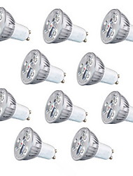 10pcs HRY® 3W GU10/GU5.3/E27 260LM Warm/Cool White Light LED Spot Lights(85-265V)