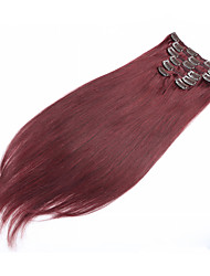 "Clip In Human Hair Extension 7pcs/set 70g 15""-22"" Straight Natural Human Hair Extension"