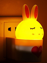 Creative Warm White Rabbit Light Sensor Sound Induction Relating to Baby Sleep Night Light(Assorted Color)