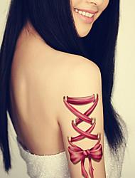 женщины лук татуировки временная татуировка наклейки временное искусство тела татуировки водонепроницаемый