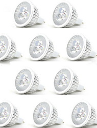 10pcs 3w mr16 300-350lm lumières spot spot (12v)