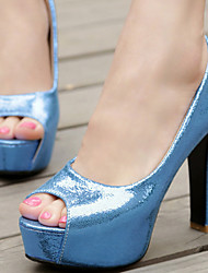 Women's Shoes Chunky Heel/Peep Toe/Platform Heels Party & Evening/Dress Blue/Silver/Gold/Fuchsia