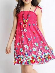 Vestido Chica deAlgodón-Verano-Rojo
