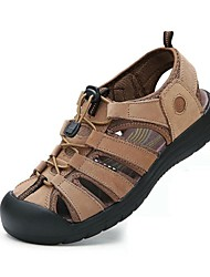 Men's Shoes Outdoor / Office & Career / Work & Duty / Athletic / Dress / Casual Nappa Leather Sandals Brown