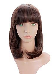 Long straight hair wig female long section Qi Liu buckle slightly curled hair wig fashion