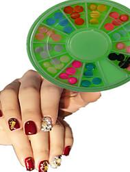 1pcs  New Green Round Bowl Plastic Semicircle Shape Colorful Nail Art Flat Jewelry Nail Art Decoration  SLBY1