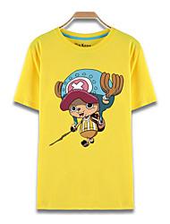 Inspiriert von One Piece Tony Tony Chopper Anime Cosplay Kostüme Cosplay-T-Shirt Druck Gelb Kurze Ärmel Top