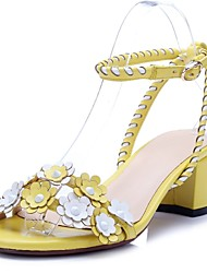Zapatos de mujer-Tacón Robusto-Tacones / Tira en el Tobillo-Sandalias-Oficina y Trabajo / Vestido / Fiesta y Noche-Pelo de Ternero-