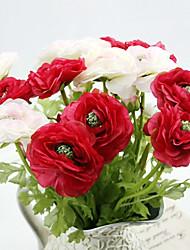 une soie branche thé roses fleurs artificielles multicolores 1pc option / set