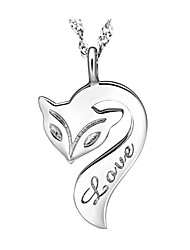 Necklace Pendant Necklaces Jewelry Daily / Casual Silver / Sterling Silver Silver 1pc Gift