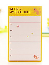 Weekly Schedule Self-Stick Note