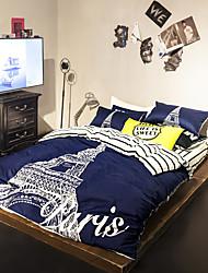 Tower duvet cover Sets 100% Cotton Bedding Set Queen/Double/Full Size