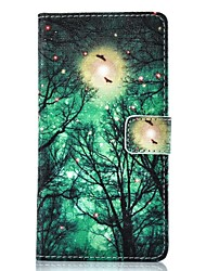 For Huawei Case / P9 / P9 Lite Wallet / Card Holder / with Stand / Flip Case Full Body Case Tree Hard PU Leather HuaweiHuawei P9 / Huawei