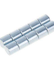 DIY 10*10mm Cylindrical Neodymium NdFeB Magnets(10PCS) Silver