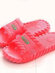 Women's Summer Open Toe / Slippers PVC Casual Flat Heel Multi-color