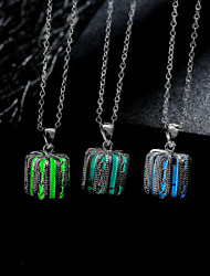 Necklace Pendant Necklaces / Chain Necklaces / Pendants Jewelry Daily / Casual Fashion Alloy Dark Blue / Bronze / Green 1pc Gift