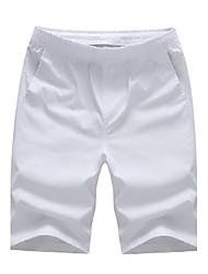 Men's Solid Casual / Sport / Plus Sizes Shorts,Cotton Black / Blue / Green / Orange / Red / White / Yellow