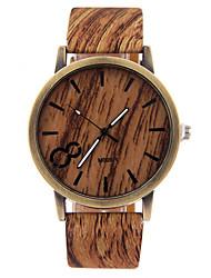 Мужской Наручные часы Часы Дерево Повседневные часы Кварцевый Кожа Группа Черный Белый