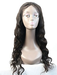 100% Brazilian Virgin Human Hair Body Wave Glueless Full Lace Wig With Baby Hair Bleached Knots