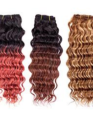 3pcs / lot 113g / pcs, ombre bunt 7a 100% reines brasilianisches Menschenhaar spinnt Bündel Haareinschlagfaden, neue tiefe Welle