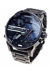 Men's Fashion Military Watch Multi Movement Quartz Steel Watch
