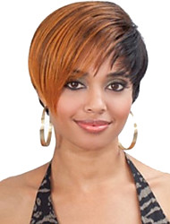Fashionable Mixed Color Short Straight Synthetic Wigs