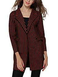 Damen Jacke - Einfach Lang ¾-Arm Polyester