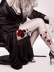 2 Tattoo Aufkleber Blumen Serie / Cartoon-Serie Non Toxic / Muster / Große Größe / WaterproofDamen / Herren / Erwachsener / Teen