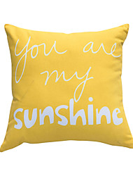 Polyester Pillow With Insert,Text Casual 16x16 inch