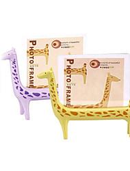 5 inch Creative Giraffe Photo Table Frame Baby Gifts Kindergarten Children Lovely Desktop Presents(Random Color)