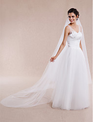 Wedding Veil One-tier Elbow Veils / Fingertip Veils / Chapel Veils / Cathedral Veils Cut Edge