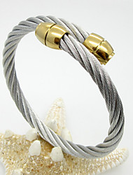 Fashion Unisex's Stainless Steel Cable Bangle