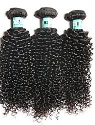 feixes de tecelagem de cabelo humano 3 feixes brasileiro do cabelo virgem extensões de cabelo encaracolado não transformados
