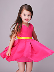 Girl's Red Dress,Bow Polyester Summer